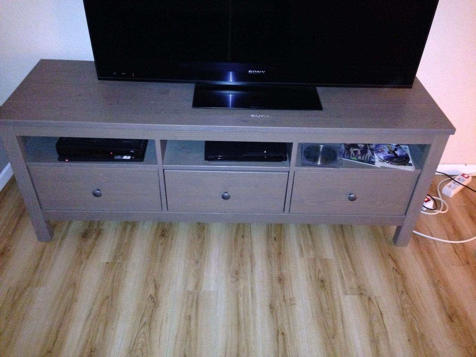 Tv möbel ikea hemnes  Gebraucht HEMNES TV-Bank, graubraun, IKEA in 22529 Hamburg um ...