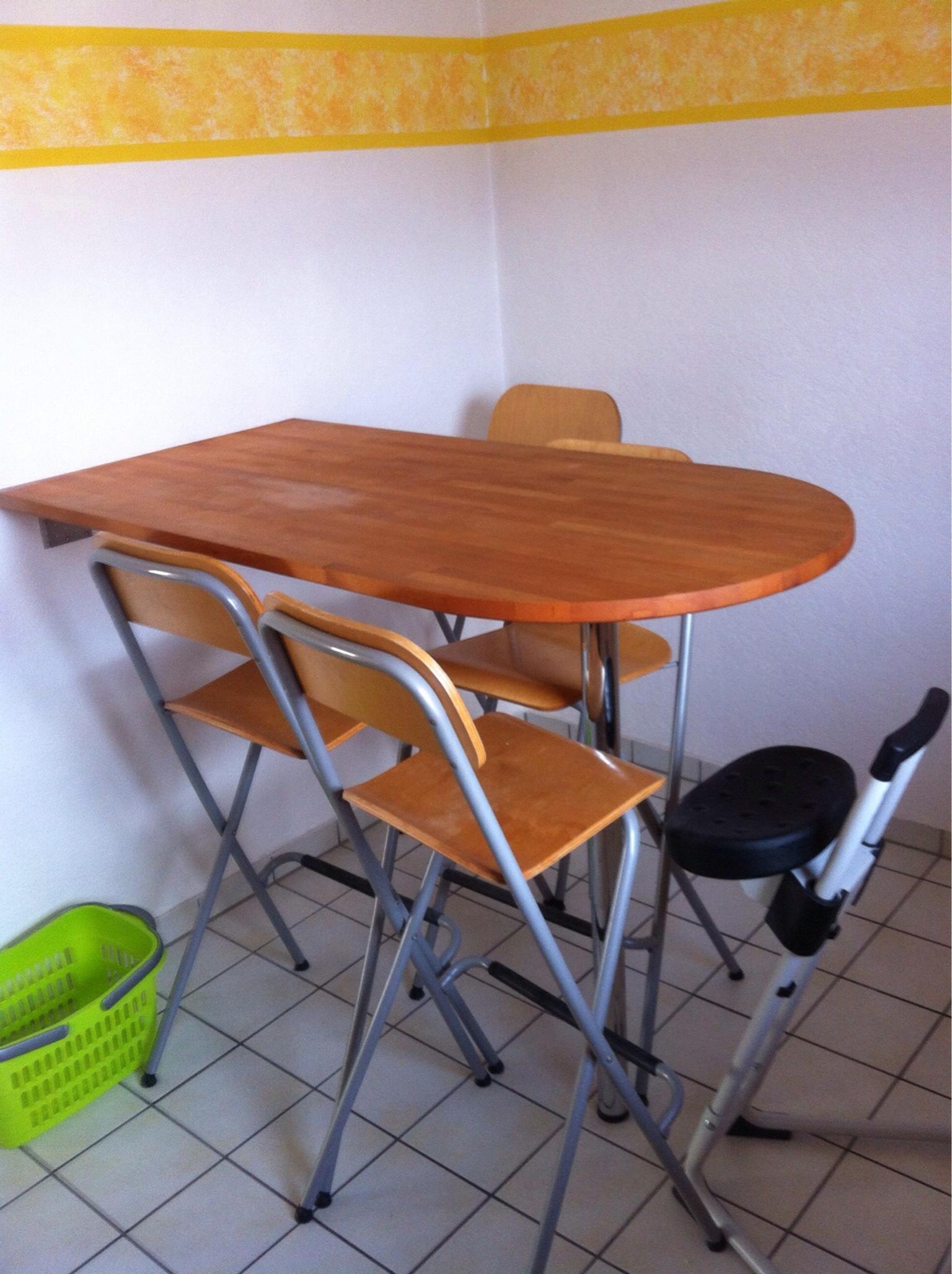 Gebraucht Thekentisch Küchentisch mit 4 Stühlen in 76571 Gaggenau um u20ac 30 00 u2013 Shpock