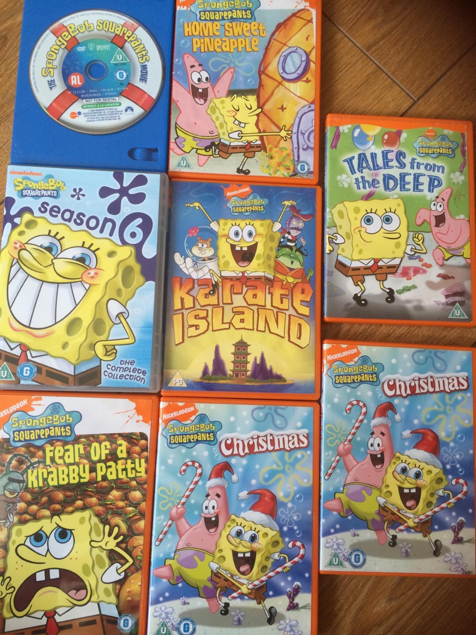 used spongebob dvds in pe15 march for 15 00 u2013 shpock
