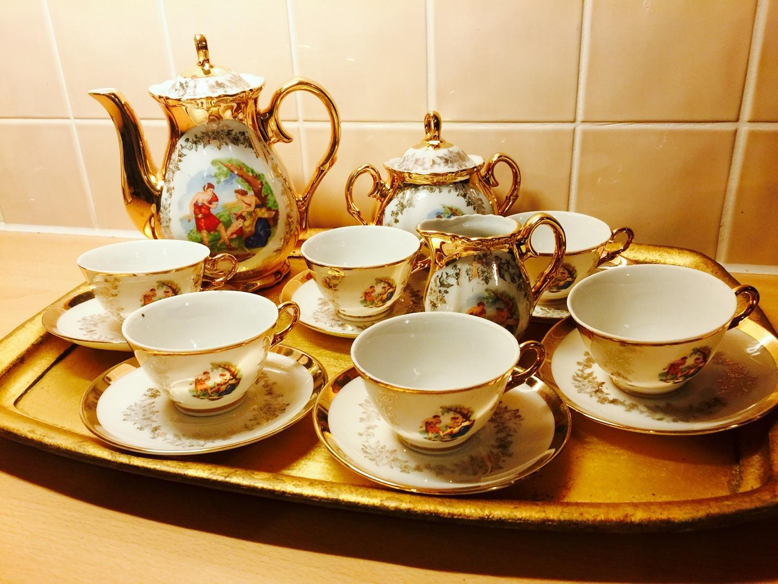 Used Bavaria Gold Plated Antique 17-piece Tea Set in Chelmsford for £ 65.00 u2013 Shpock & Used Bavaria Gold Plated Antique 17-piece Tea Set in Chelmsford for ...