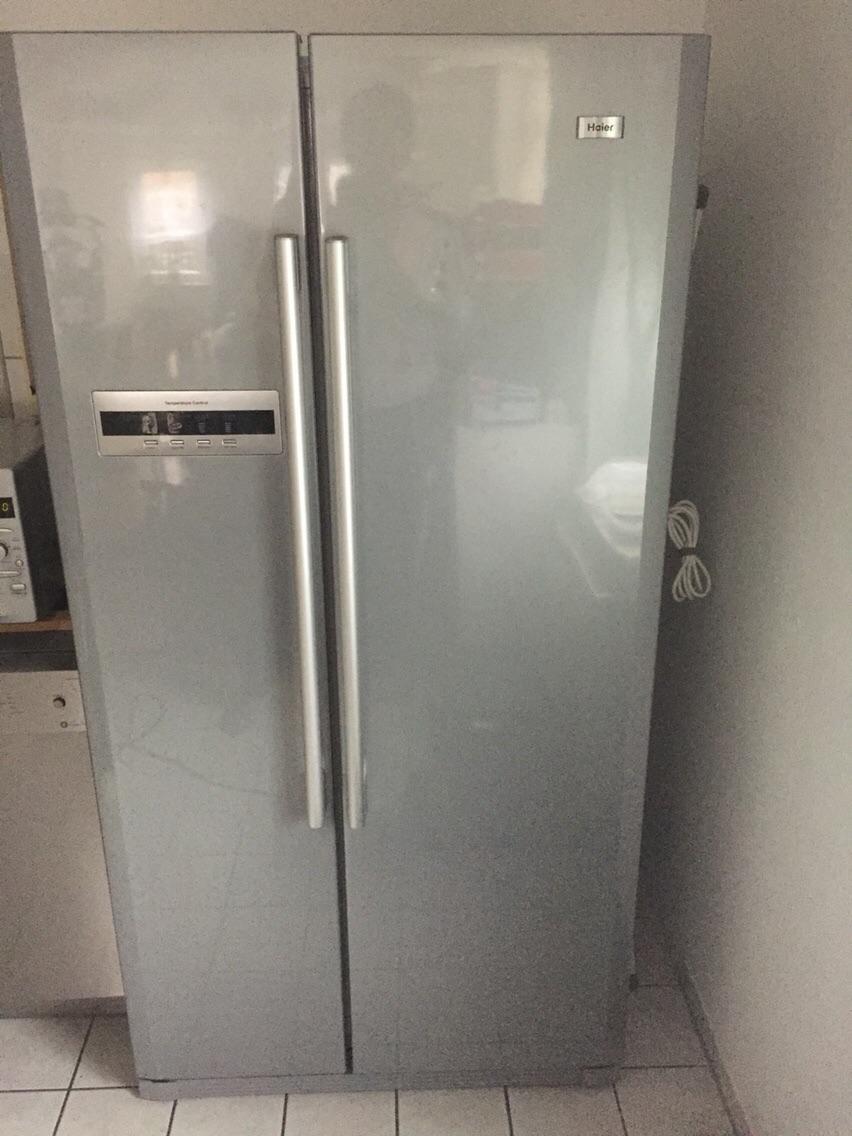Kühlschrank Side By Side Gebraucht : Gebraucht haier hrf saa side by side kühlschrank in