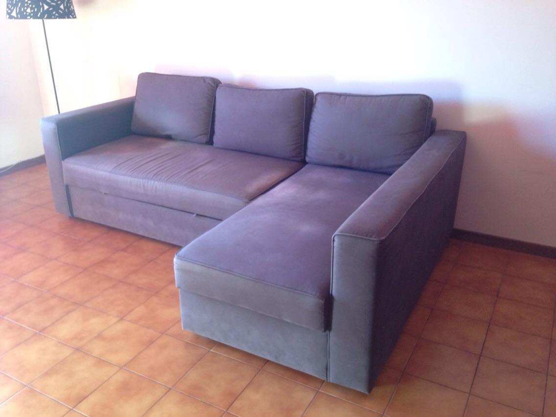 Usato divano letto angolare manstad ikea blu scuro in roma