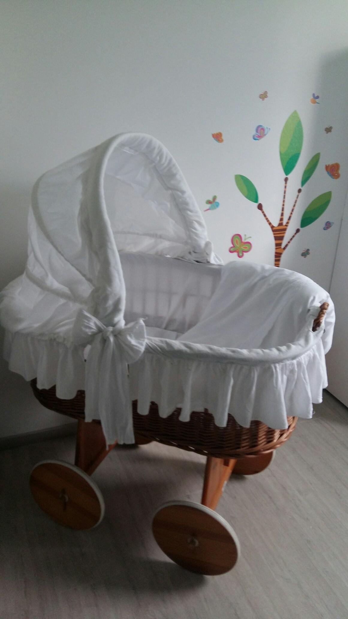 My sweet baby stubenwagen mit haube bär mit schleife lila