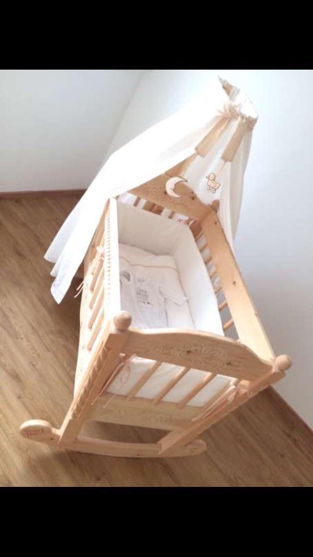 Gebraucht zirbenholz baby kinder stubenwagen wiege wipp in