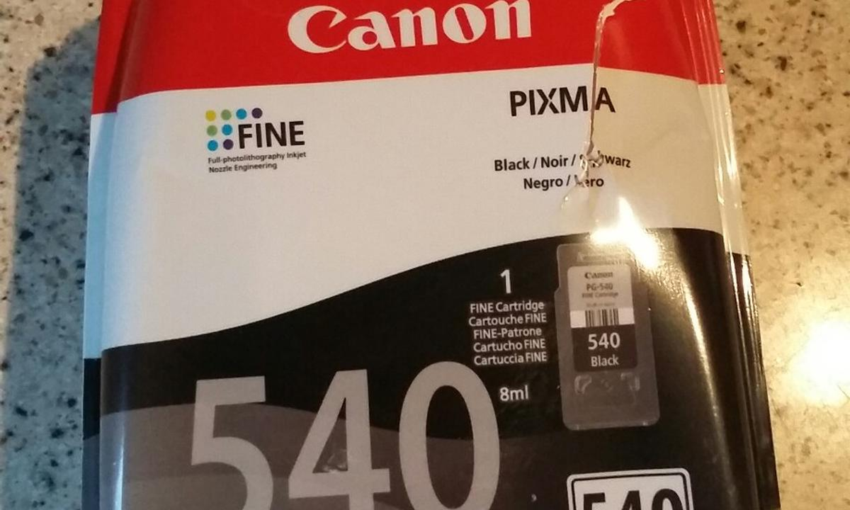 Used Canon 540 Black Ink Cartridge In Dn35 Cleethorpes For 1000 Tinta Noir 1 Liter Shpock