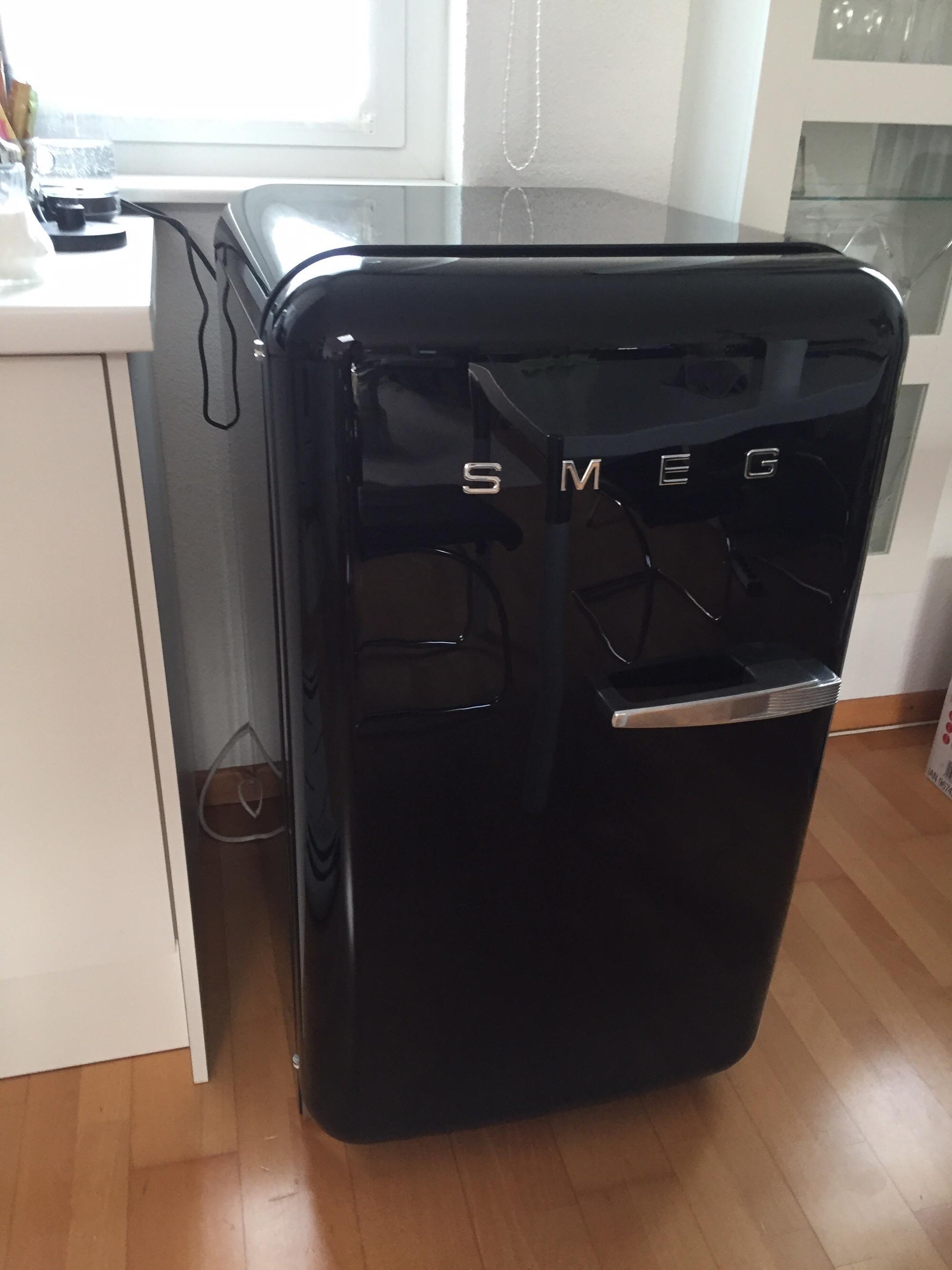 Smeg Kühlschrank Fab10 : Gebraucht smeg fab kühlschrank schwarz retro style in